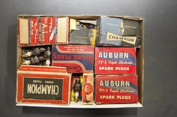 16: Box of spark plugs, Auburn & Champion