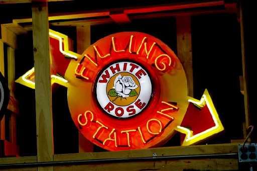 342 White Rose Filling Station Neon Sign New