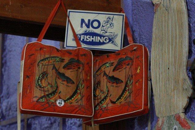 2: 2 Lifejackets and No Fishing Sign