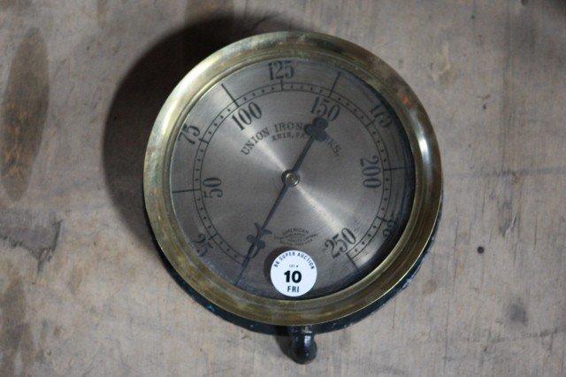 10: . Brass American Steam gauge