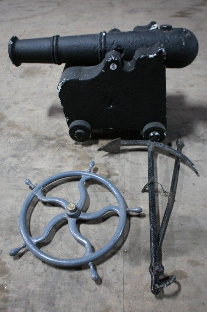 19: . Stage Prop Canon, Anchor and Wheel