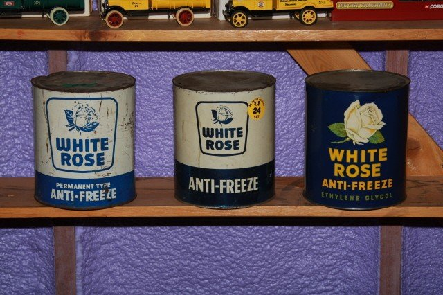 24: White Rose Cans x 3