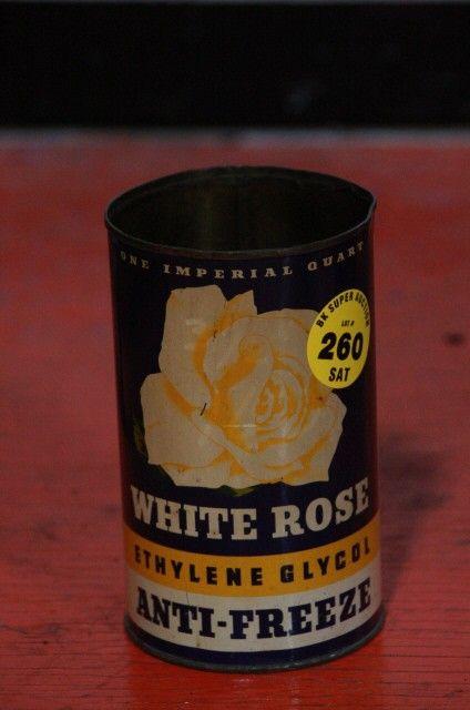 White Rose anti-freeze can RARE