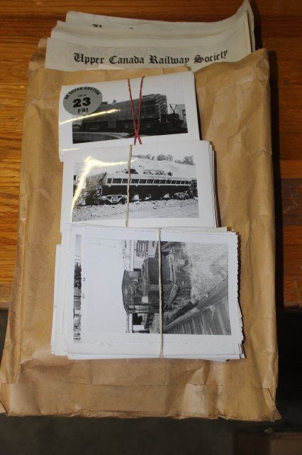 23: LOT OF RAILWAY PHOTOGRAPHS AND LETTER