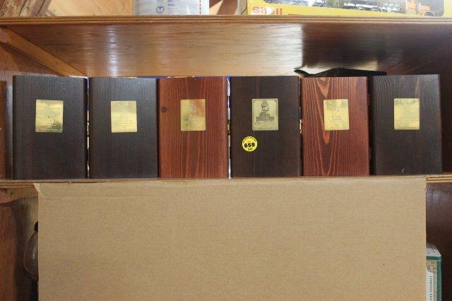 659: LOT OF 6 WOODEN  LIQUOR BOXES