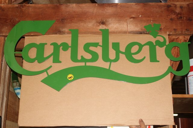 663: LARGE CARLSBERG SIGN LASER CUT METAL