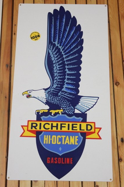 1006: METAL RICHFIELD GAS SIGN ,REPRO