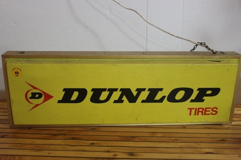 lighted dunlop tire sign