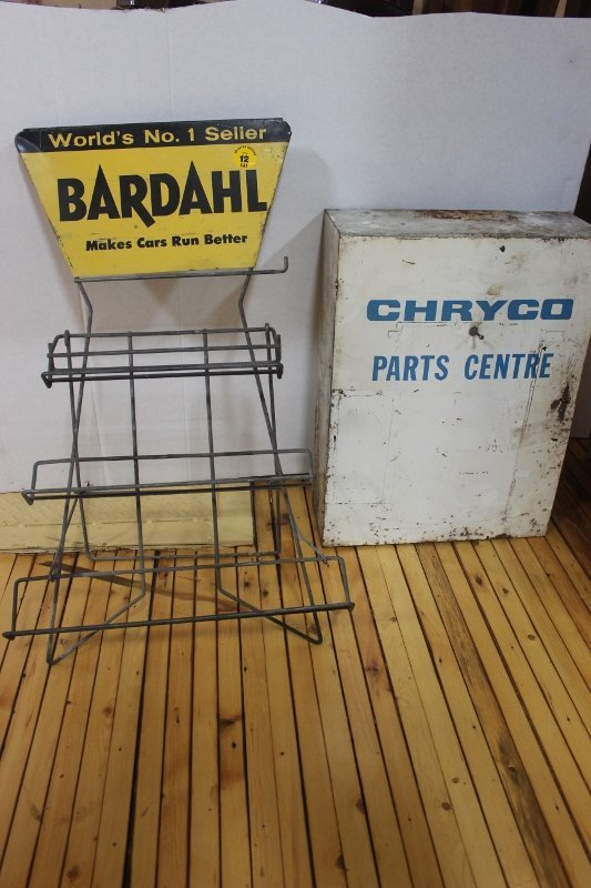 Bardhal oil rack & chryco cabinet