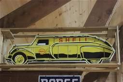 shell tanker truck neon