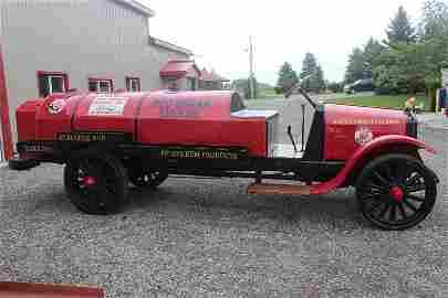 1918 jumbo tanker truck red indian