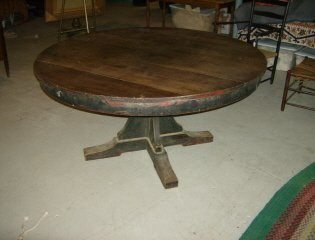 ( Poss.L&G Stickley) Revolving Mission Dinning table