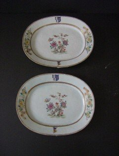 6A: Pair Chinese Xport Armorial Chargers