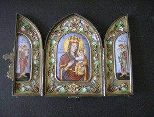 153: Russian silver and enamel icon