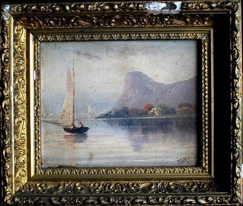 1: Pair of 1894 sea landscapes, J.D. Martini