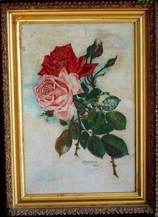 3: E.R. Spalke Still life with Roses, 1919