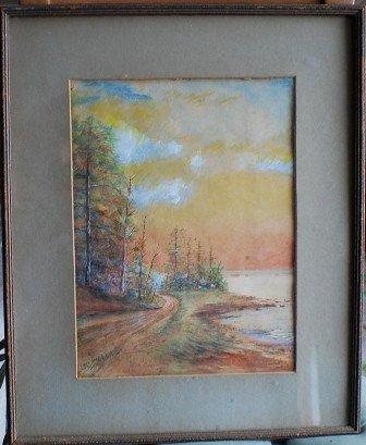 5: O.C. Goerner Late 1800-Early 1900's pastel landscape
