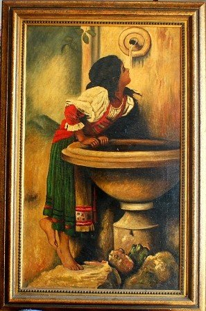 7: Spanish Girl Drinking Water, Oil on Canvas