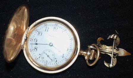 20: Waltham Lady's Pocket Watch , 14K Gold Tested.
