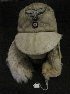 245: WW2 German Luftwaffe wool lined hat