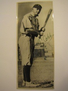 3: Signed photo by Ty Cobb