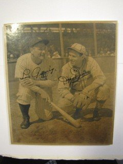 4: Signed photo of Lou Gehrig and Dizzy Dean