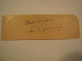 5: Lou Gehrig signature