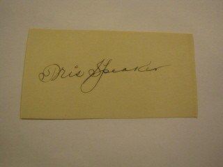 9: Tris Speaker signature