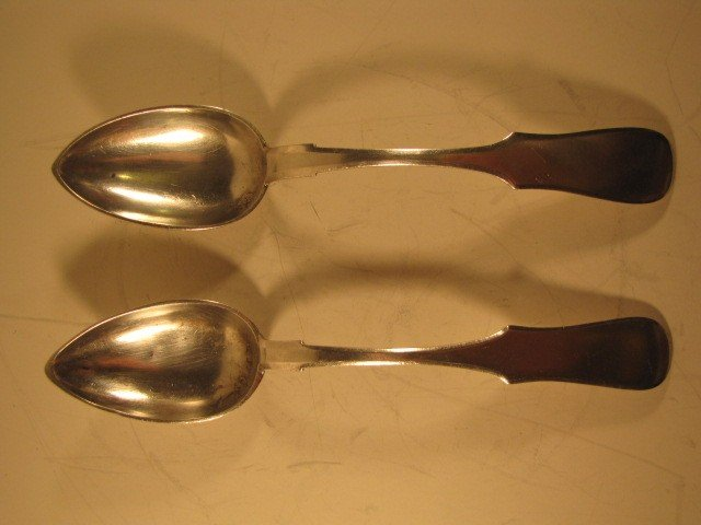 12: Set of 2 Russian SS serving spoons