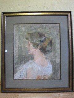 """22: c/p portrait of a woman 22""""x 18"""""""