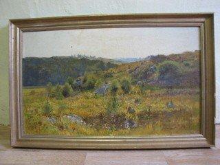 """23: Painting o/c landscape, 18"""" x 30"""" signed"""