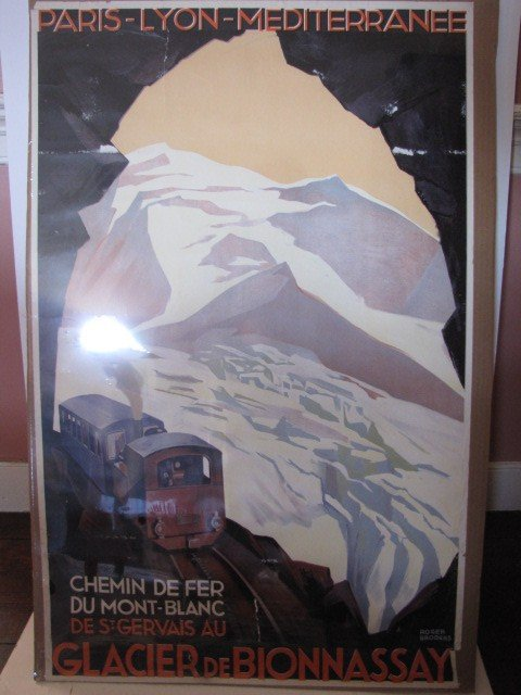 149: Travel poster, Paris-Lyon-Mediterranee