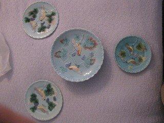 4: German Majolica   plates 4 pcs.