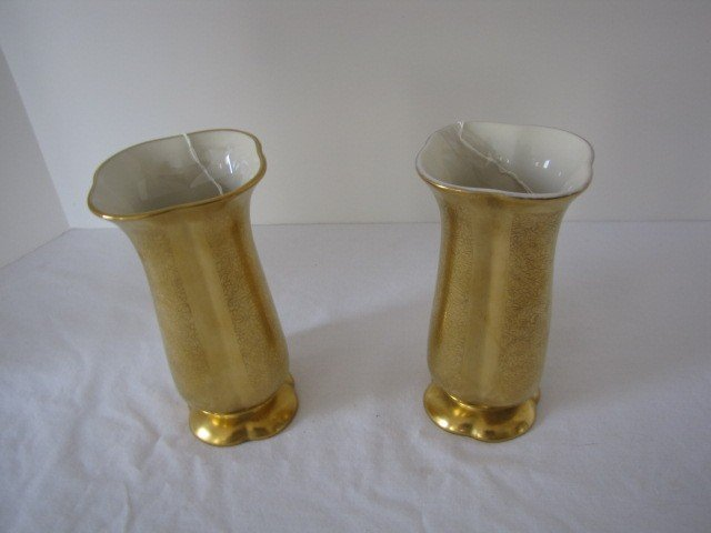 232: Pair of Piccard vases