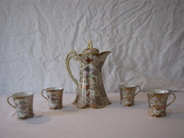 236: Nippon Satsumi 5pc. choclate set