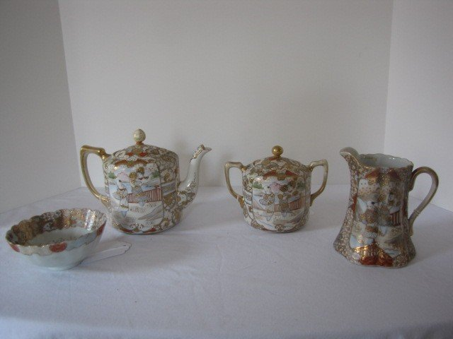 237: Nippon Satsumi 4pc. tea set