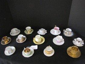 14 Assorted Demitasse Cups