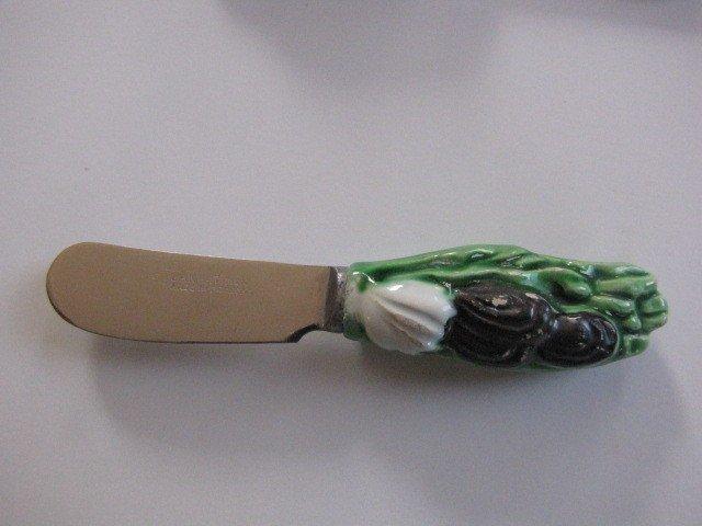 298: 6 Majolica fruit knives - 5