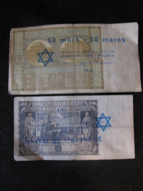 362: 2 pcs. Warsaw, Poland Ghetto currency