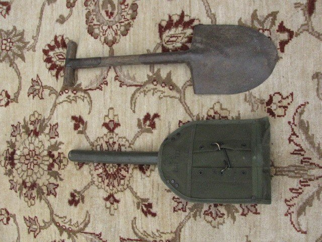 12: Pair of US Army shovels