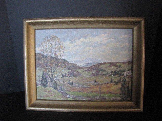 """28: Painting, O/C, landscape, 15""""x19"""", signed"""