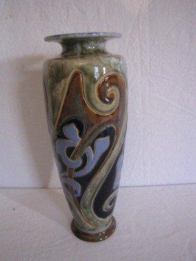 """14 1/2"""" Vase, Signed Doulton/artist Signed"""