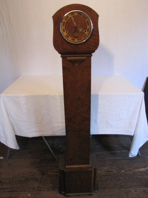 "39: Deco floor clock, 4'9"" tall"