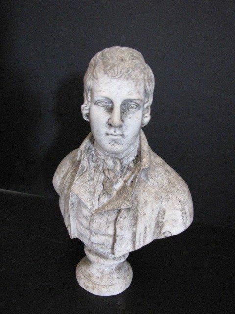 42: Plaster bust of Robert Burns, from Scotland