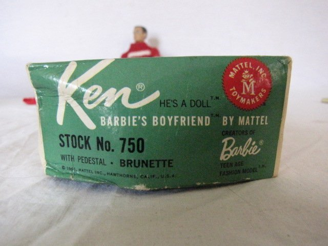 2: Ken doll w/ clothes and box, 1961