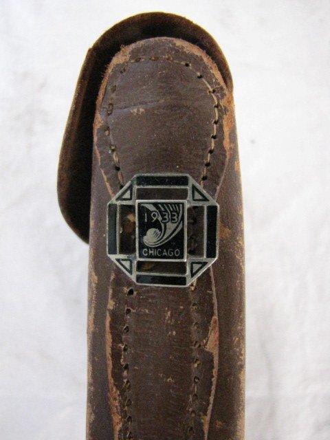 "7: Leather camera  case, 3"" x 5"" x 1 1/2"""