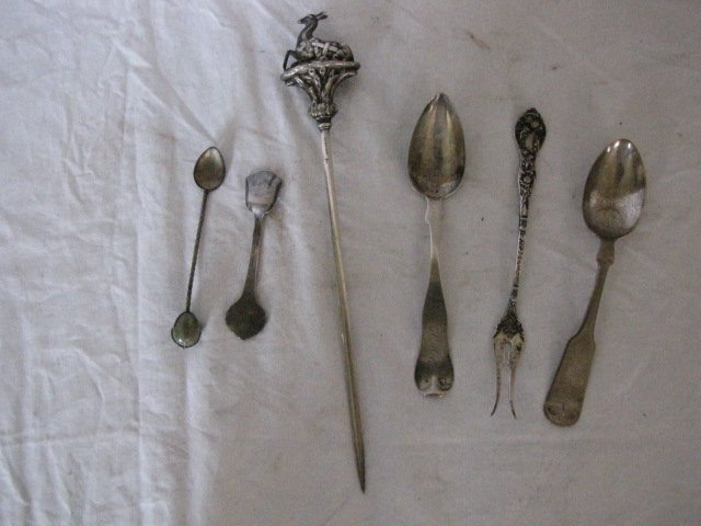 17: 6 pc. lot of silver and nickel