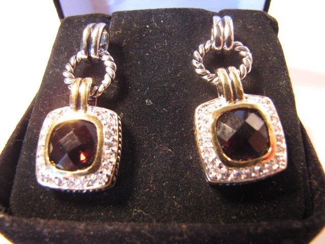 21: Pair of sterling silver ear rings