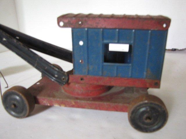 76: Tin toy steam shovel - 2