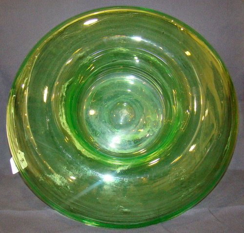 2: LARGE ART GLASS OVERFLOW BOWL ATTRIBUTED TO STEUBEN